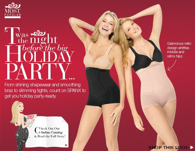 From shining shapewear and smoothing bras to slimming tights, count on SPANX to get you holiday party-ready. Shop this look!