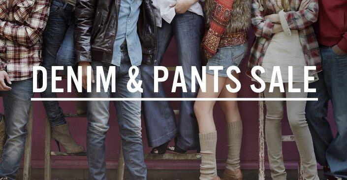 Denim and Pants Sale
