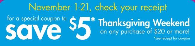 save $5*