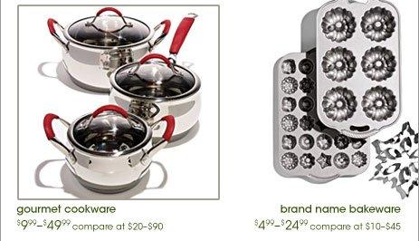 gourmet  cookware, brand name cookware