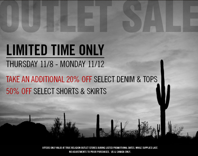 Outlet Sale: Limited Time Only!
