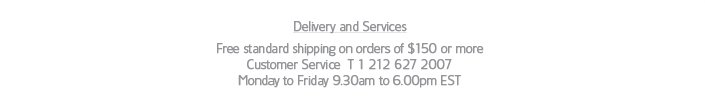 delivery and services