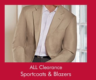 ALL Clearance Sportcoats & Blazers