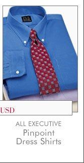 All Executive Pinpoint Dress Shirts - Starting at $25 USD