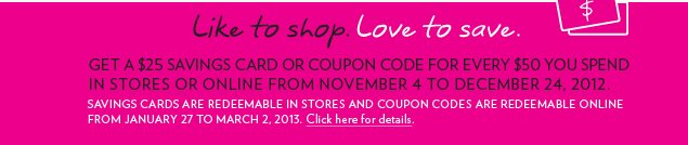 Like to Shop. Love to Save.
