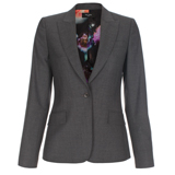Paul Smith Jackets - Grey Slim-Fit Tailored Jacket