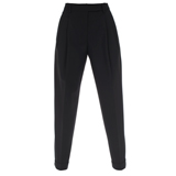 Paul Smith Trousers - Pleated Front Black Ankle Grazer Trousers