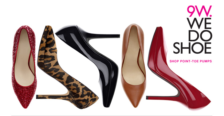 Click here to shop point-toe pumps
