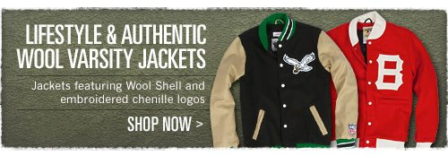 Lifestyle & Authentic Wool Varsity Jackets - Click Here to Shop Now!