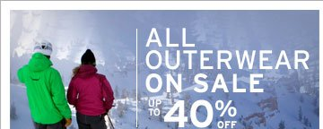 ALL OUTERWEAR ON SALE UP TO 40% OFF