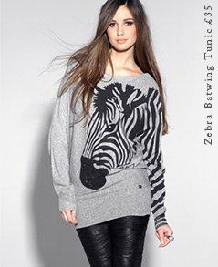 Zebra Batwing Tunic