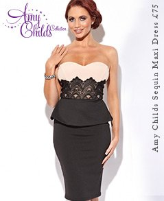 Amy Childs Bandeau Lace Detail Dress