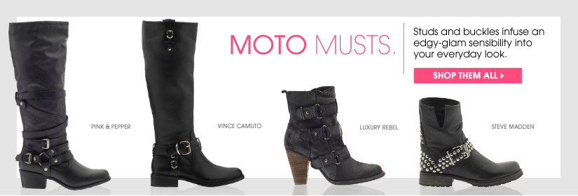MOTO MUSTS. SHOP THEM ALL