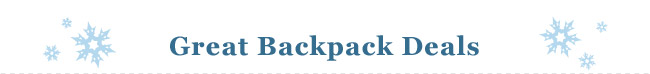 Shop Great Backpack Deals