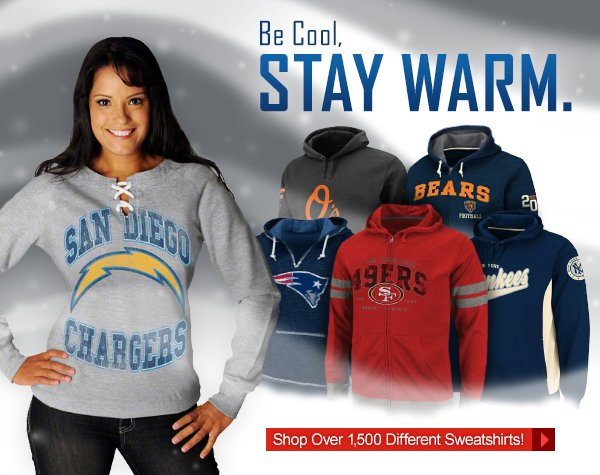 Be Cool, Stay Warm. Shop Over 1,500 Different Sweatshirts.