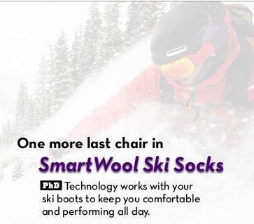 One more last chair in SmartWool Ski Socks.