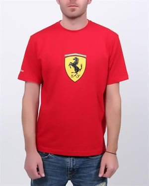 Ferrari Solid Color Men's T-Shirt With Logo & Brand Name $39