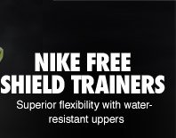 NIKE FREE SHIELD TRAINERS | Superior flexibility with water-resistant uppers