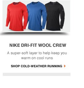 NIKE DIR-FIT WOOL CREW | A supre-soft layer to help keep you warm on cool runs | SHOP COLD-WEATHER RUNNING