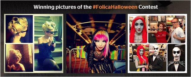 #Folica Halloween Contest Winners