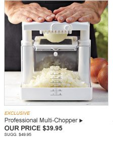 EXCLUSIVE -- Professional Multi-Chopper - OUR PRICE $39.95 (SUGG. $49.95)