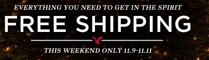 Everything You Need To Get In The Spirit | Free Shipping | This Weekend Only 11.9-11.11