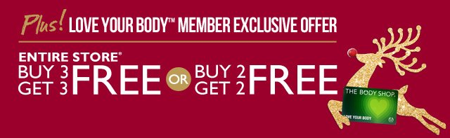 Plus! Love Your Body Member Exclusive Offer