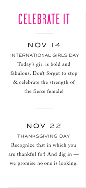 CELEBRATE IT - INTERNATIONAL GIRLS DAY