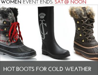 HOT BOOTS FOR COLD WEATHER