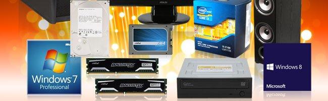 HDD, Win7, SSD, CPU, Memory, ODD, Win8