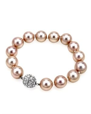 Bracelet with Faux Pearl and Cubic Zirconia $15