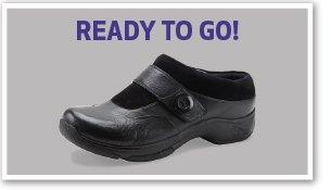Ready to go! Kaya Black Milled Leather