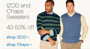 IZOD and Chaps Sweaters. Shop now.