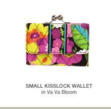 Small Kisslock Wallet in Va Va Bloom