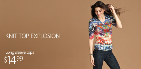 Knit top explosion