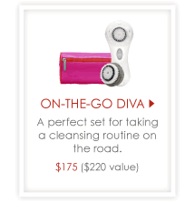 On-The-Go Diva - A perfect set for taking a cleansing routine on the road. $175 ($220 value)
