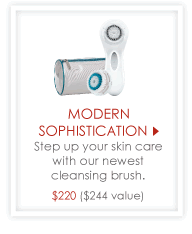 Modern Sophistication - Step up your skin care with our newest cleansing brush. $220 ($244 value)