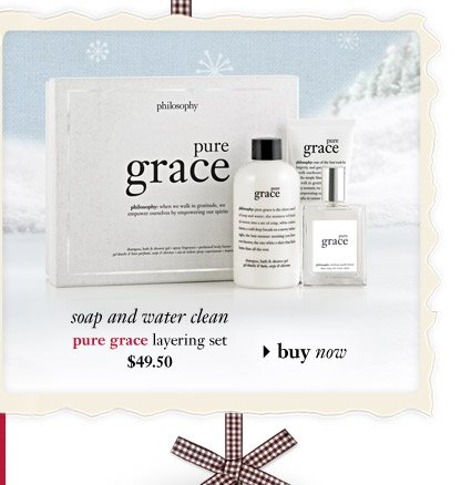 soap and water clean - pure grace layering set $49.50