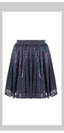 Purple Shimmer Swoosh Skirt