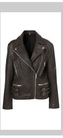 Double Buckle Biker Jacket