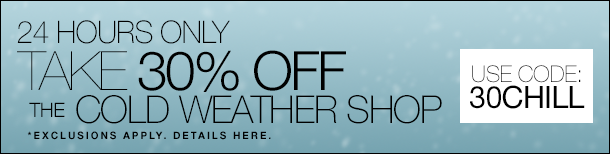 Take 30% Off The Cold Weather Shop