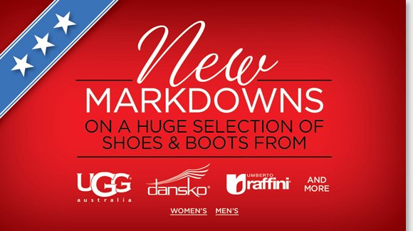 Now through Monday, find new markdowns on a huge selection of boots and shoes during our Holiday Weekend Sale for Veterans Day! Save on UGG® Australia, Dansko, Zealand and more, plus save an extra 25% on ALL MBT styles! Enjoy a FREE Polar Fleece Blanket (a $40 value) with any purchase of $150 of more!* Shop now at The Walking Company.