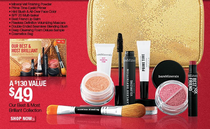 Exclusively at ULTA! New, bareMinerals 10 pc collection - $49. A $130 Value. Shop Now.