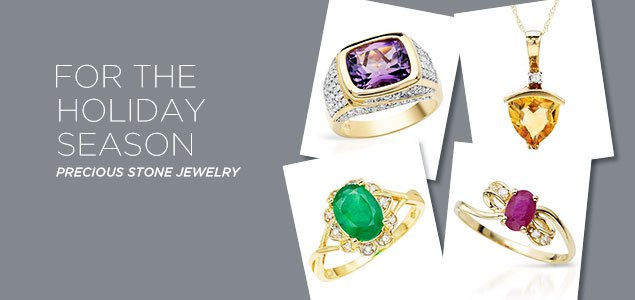 For Holiday Season: Precious Stone Jewelry Blowout