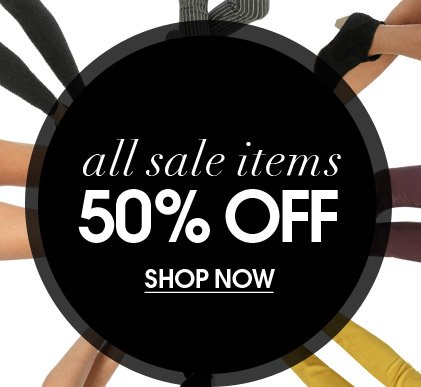 All sale Items - 50% Off