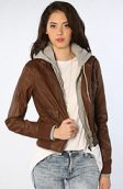 <b>Obey</b><br />The Jealous Lover Jacket in Coffee Bean