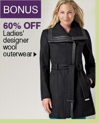 BONUS 60% OFF Ladies' designer wool outerwear