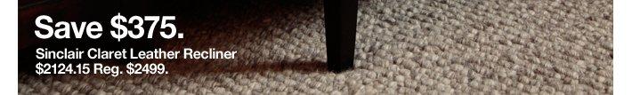 Sinclair Claret Leather Recliner