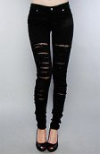 <b>Tripp NYC</b><br />The Fishnet Underlay Jean in Black