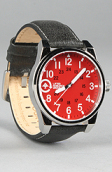 <b>LRG</b><br />The Field & Research Watch in Black & Red